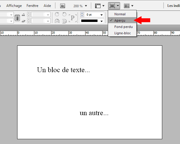 texte curviligne indesign