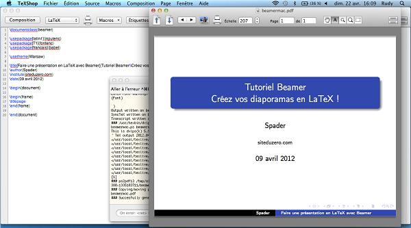 LaTeX unter Mac OS X - edenone
